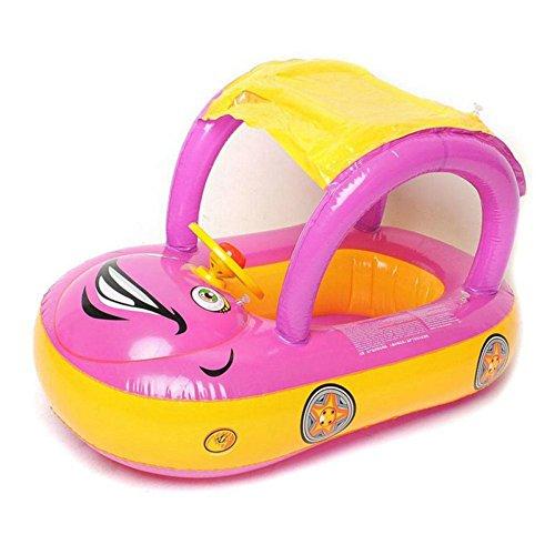 YIWANGO Anillo De Natación para Bebé con Asiento De Carro De Toldo,A