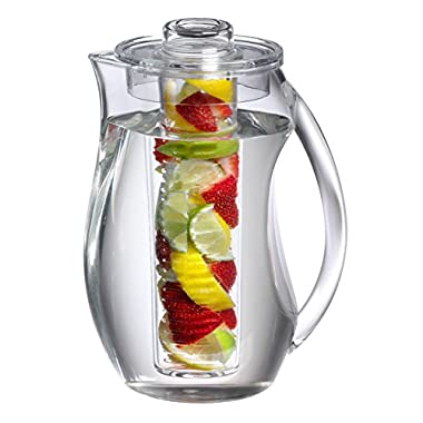 Prodyne FI-3 Fruit Infusion Flavor Pitcher, 2.9 qt clear, 93 oz