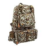 KINGDOM Fishing Tackle Backpack Detachable Large Storage Scratch-Resistant & Waterproof Messenger...