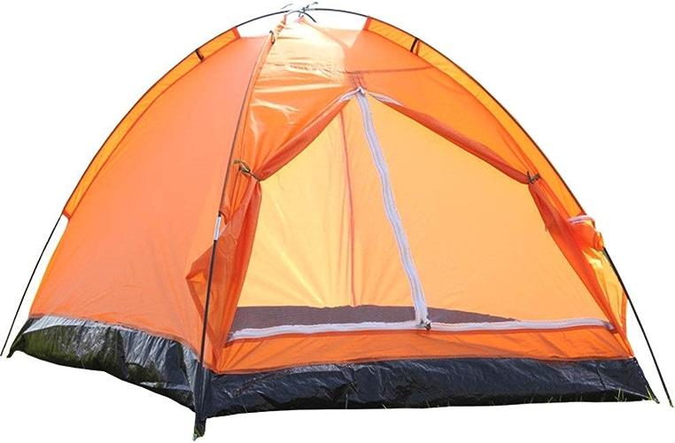 Yocobo Tente de Plage extérieure Camping en Plein Air Fit Hydraulique 2-3 Personne 3 Saison Léger Tente Imperméable Famille Sports Alpinisme Randonnée Voyager (Couleur   Orange)