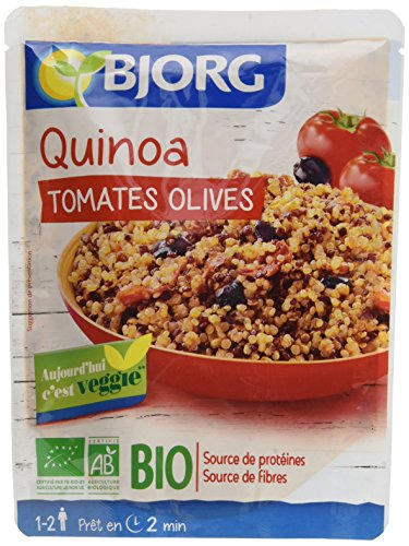 Bjorg Quinoa Tomates Olives – Veggie et Bio - 250 g - Lot de 3 Doypacks