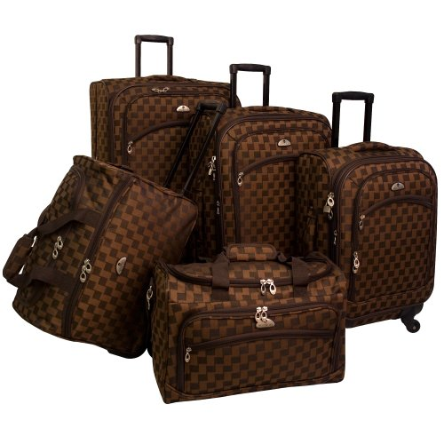 American Flyer Luggage Madrid 5 Piece Spinner Set,...
