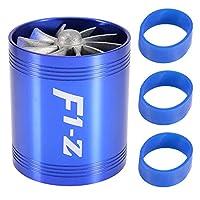 吸気タービン エアインテークターボネーター 両面吸気タービン 空気増圧 馬力増す 回流よけ 燃費節約 アルミニウム合金材質 内径6MM メンテナンス交換用品(ブルー)