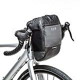 WOTOW Borsa Bici Handlebar, Telaio Anteriore per Biciclette Multifunzionale (4.5L) (Nero) (Nero)