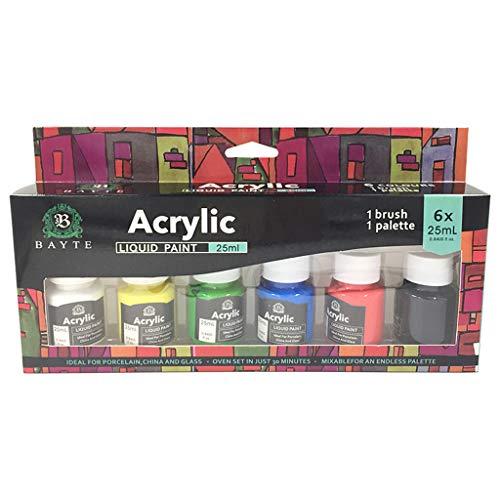 YOYOHO Schwere Körperfarben Reichhaltige Pigmente Glasfarbenset zum Malen von Kunsthandwerk - B #