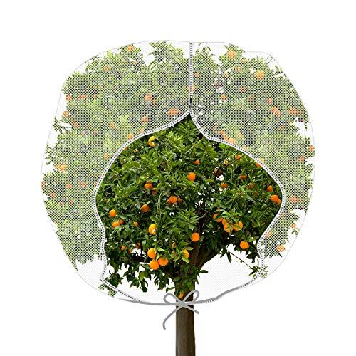 Große Garten Insektennetz Pflanzen Abdeckung mit Reißverschluss H in-Form Beutel Garten Wanzen Netz Pflanzen Abdeckung zum Schutz von Früchten Blume vor Insekt Vogel Fressen (72 x 72 Zoll)