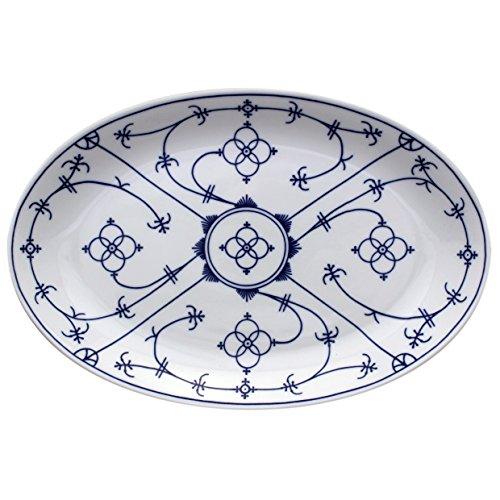 Eschenbach Porcelaine Groupe Tallin Indien Bleu Porcelaine Ovale Assiette de 32 cm, Bleu Indigo, 1 x 1 x 1 cm