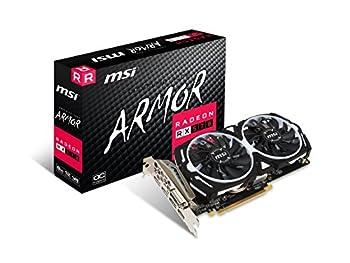 MSI Gaming Radeon RX 570 256-bit 8GB GDRR5 DirectX 12 VR Ready CFX Graphcis Card  RX 570 ARMOR 8G OC   Renewed