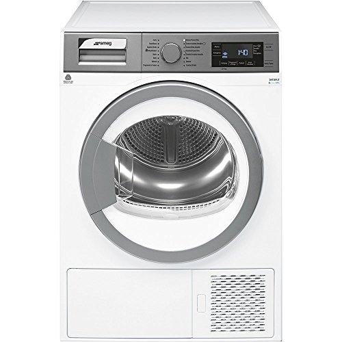 Smeg DHT38PLIT Libera installazione Carica frontale 8kg A+++-10% Argento, Bianco asciugatrice