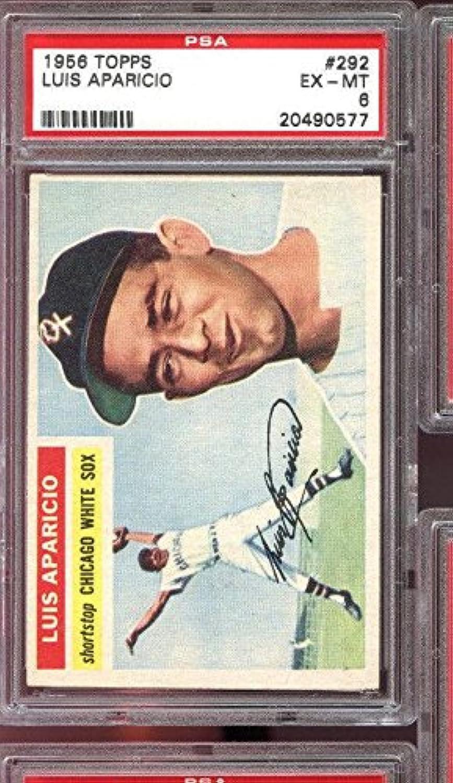 1956 292 Luis Aparicio Rookie Rc White Sox 6 Baseball Card