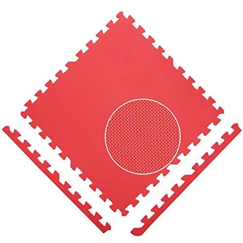 WZHIJUN Tapis de jeu Antidérapant Enfant Tapis de Mousse Bébé Épissure Tapis Rampant avec Barre Latérale 9 Couleurs (Color : Red, Size : 15pcs Pack)