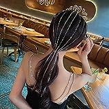 YUEZPKF Hermosa Brillo de la Diadema de Diamantes de imitación Completa para Las Mujeres Larga Cristal Cristal CLIPO DE PISTO DE CHANDIA DE Boda Accesorios para el Cabello