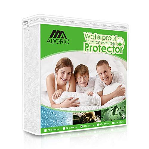 ADORIC Protège Matelas Imperméable, 140 x 190/200cm, Housse de Protection Matelas, Alèse Impermeable Coton/TPU