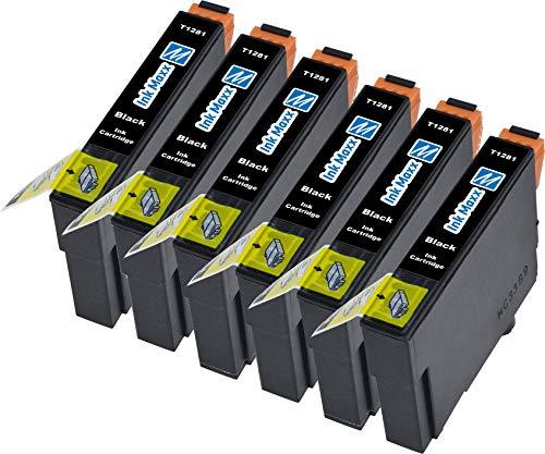 Ink Maxx kompatible Tintenpatrone als Ersatz für Epson (Schwarz 6-Pack)