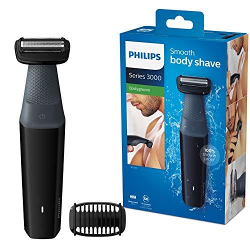 Philips Serie 3000 BG3010/15 - Afeitadoracorporal aptaparaladucha con 1 peines-guia 50 min de uso