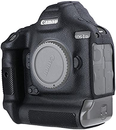 Canon EOS 1DX Mark II Protective Case Professional Silicion Rubber Camera Housing Case Cover Detachable Antiscratch shockproof Full body Protective case for Canon EOS 1DX MARK II (Black)