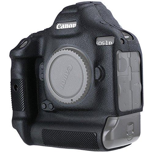 Canon EOS 1DX II Camera Housing Case, Professional Silicion Rubber Camera Case Cover Detachable Protective for Canon 1DX II (Black)