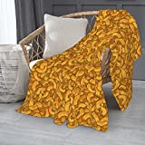 Cheese Blanket Lightweight 50 x 60 Inch Super Soft Cozy Throw Blanket for Couch Bed and Living Room