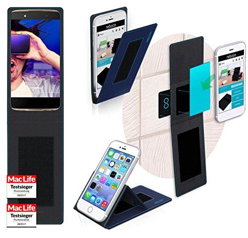reboon Hülle für Alcatel Idol 4 Plus Tasche Cover Case Bumper | Blau | Testsieger