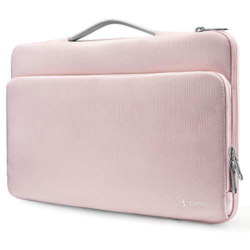 """tomtoc Laptop Tasche für 13"""" MacBook Air M1, 13"""" MacBook Pro M1, 12,4"""" Surface Laptop Go, 12,3"""" Surface Pro X/7, Dell XPS 13, 12,9"""" iPad Pro 2018-2021, Notebook Laptop Hülle Aktentasche, Rosa"""