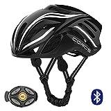 Coros Linx Smart Cycling Helmet, Black/White Gloss, Large