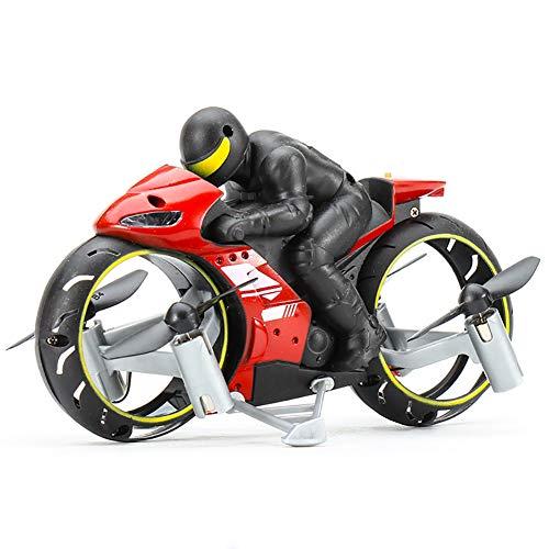 XLNB 2.4g Land and Air Flying Motorcycle Remote Control De Cuatro Ejes Drone Racing Stunt Motorcycle Regalo De Juguete para Niños,Rojo