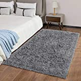 Ophanie Upgraded Machine Washable Area Rugs for Living Room, Ultra-Luxurious Soft and Thick Faux Fur Shag Rug Non-Slip Carpet for Bedroom, Baby Room, Nursery Decor Rug, 3x5 Feet, Gray