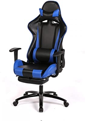Laptop Computers Video Game Chair Computer Gaming Chairs Racing Kids Adult Best Desktop Office Blue Furniture