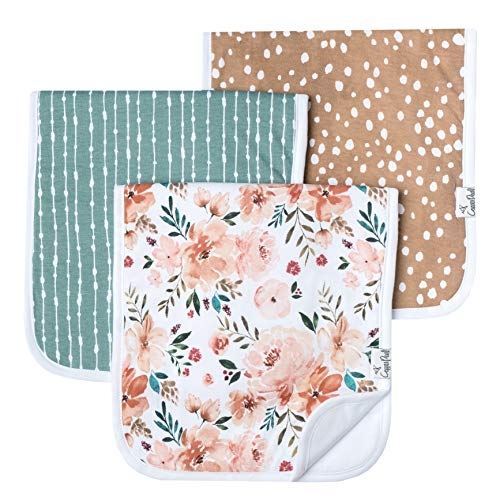 Baby Burp Cloth Large 21x10 Size Premium Absorbent Triple Layer 3-Pack Gift Set