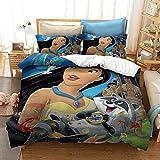 XZHYMJ Bettbezug-Set für Jungen Mädchenzel Doppel Kingsize-Bett 3D-gedruckte Teenager Kinder Kinder Bettwäsche-Set mit Mikrofaser Reißverschluss140x200cm_Mulan
