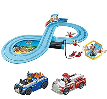 Carrera First Paw Patrol - Slot Car Race Track - Includes 2 Cars  Chase and Marshall - Battery-Powered Beginner Racing Set for Kids Ages 3 Years and Up Multi