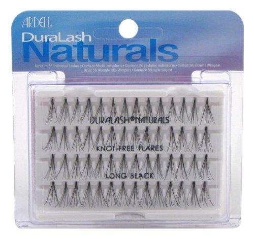 Ardell Faux cils Duralash Naturals - Ouverts - Longs - Noirs - #65054 - 56 Cils/paquet (3 paquets)