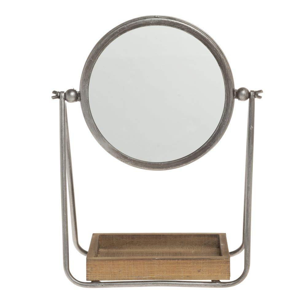 Round Counter Mirror Wood Cheap mail order shopping Ranking TOP10 Tray with