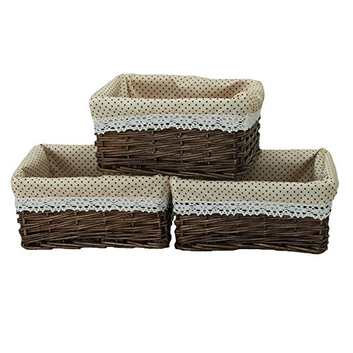small wicker basket with liner - 5
