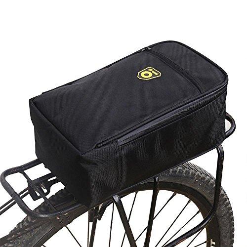 Sacoche de Vélo Arrière, Cyclisme Sac de Rangement Pliable de Vélo Route, Porte-Bagages Arrière Sacoche de Vélo Multifonctions pour Vélo/ Moto