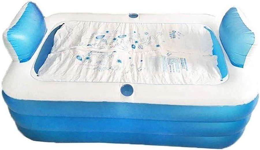 GAOTTINGSD Piscinas Hinchable Inflable de PVC Bañera Cuarto de baño portátil for Adultos Plegable con Patas SPA Bed Bañera Tina de baño 150cm x 105cm x 70cm