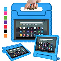 Only compatible with All-New Amazon Fire 7 2019 release (9th generation) Display Tablet. Case made of high quality dense EVA foam material with rugged frame surface. Provides extra shock-absorbing, dust-repelling and skid-proofing. Flexible foam cove...