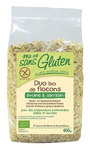 Ma vie sans gluten Bio Duo de Flocons Avoine & Sarrasin, 400 g, 1 Unité