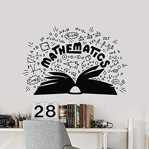 XCJX Matematica Adesivo murale Scuola Simboli matematici Libro Adesivi murali Cameretta per Ragazzi Accessori per la casa Accessori per Aula 74x111cm