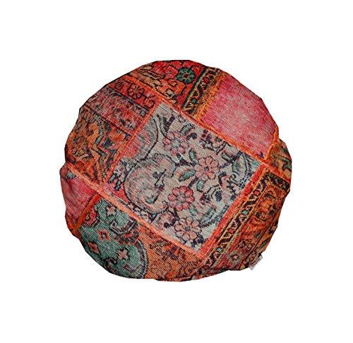 """beties """"PersischPatch"""" Kissenhülle ca. Ø 40 cm 100% Baumwolle marokkanischer Wohnstil in der Farbe abendrot"""