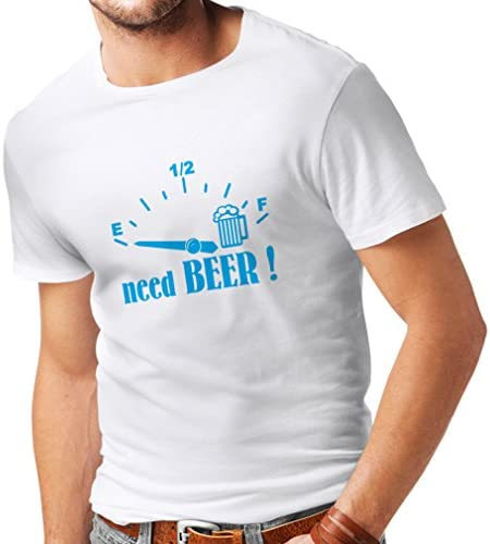 Camisetas Hombre ¡Necesito más Cerveza! Divertido Regalo