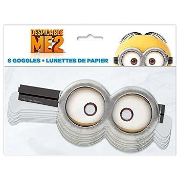 Despicable Me Minion Goggle Party Masks 8ct
