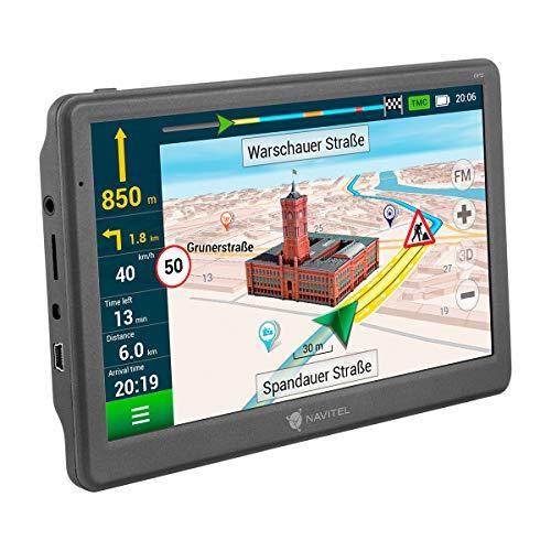 Navitel E700T GPS Navi (Navigationsgerät / 7 Zoll/EU 47 Karten Liftime Updates kostenfrei/TMC/POI/Blitzerwarner/Sprachführung/Spurassistent)