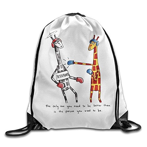 Yuanmeiju Cool Drawstring Backpack Cute Giraffe Art Design Print Drawstring Backpack Rucksack Shoulder Bags Gym Bag Giraffe 25