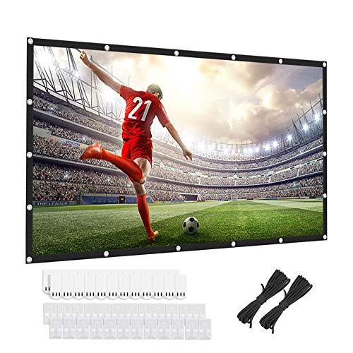 Beamer Leinwand, Keenstone 4K 3D HD 16: 9 120 Zoll Einfache Zusammenfaltbare Projektionswand- Knitterfest Unterstützung Doppelseitigen Projektion für Heimkino und Freiluftkino (266x149cm) (120 Zoll)
