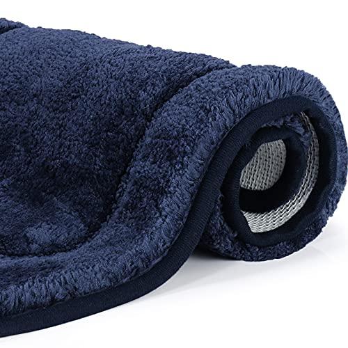 Alfombra Baño, OKYUK Alfombrilla Baño Antideslizante Suave,Alfombra de Baño Fuerte Absorbente Lavable Máquina,Azul Marino,Tamaño: 50x80 cm