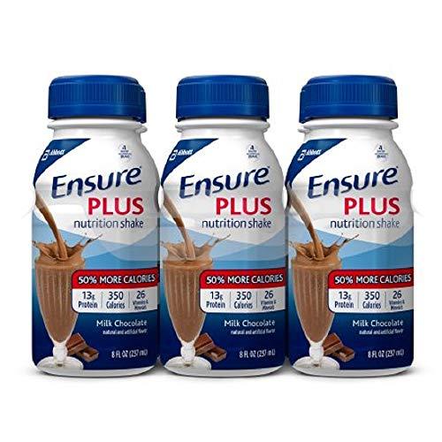 Ensure Plus Milk Chocolate Flavor 8 oz. Bottle Ready to Use, 57266 - Case of 24