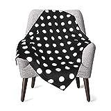White Black Polka Dot Baby Blanket for Girls Or Boys, Ultra-Soft Elegant Swadding Blanket for Better Care 30 X 40 Inch