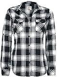 Brandit Amy Flanell Checkshirt Girl-Hemd schwarz/weiß - M