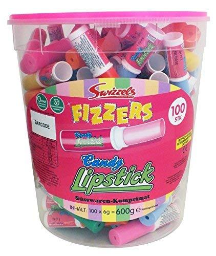 Swizzels Candy Lipstick - Süßwaren Lippenstift 100 Stück